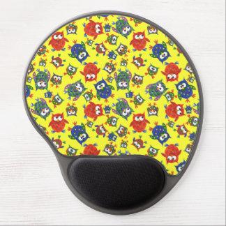 Gel lindo de encargo Mousepad de los búhos, amaril Alfombrilla De Ratón Con Gel