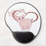 Gel lindo Mousepad del arte del cerdo Alfombrilla De Raton Con Gel