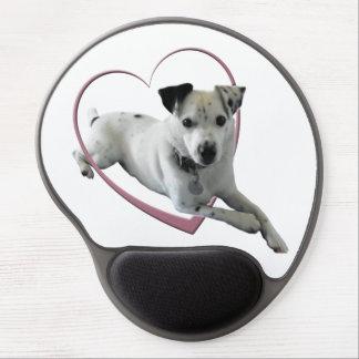Gel lindo Mousepad del arte del perro de Jack Russ Alfombrilla De Raton Con Gel