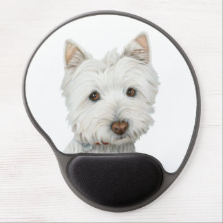 Gel lindo Mouspad del arte del perro de Westie Alfombrilla Con Gel