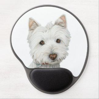 Gel lindo Mouspad del arte del perro de Westie Alfombrillas De Raton Con Gel