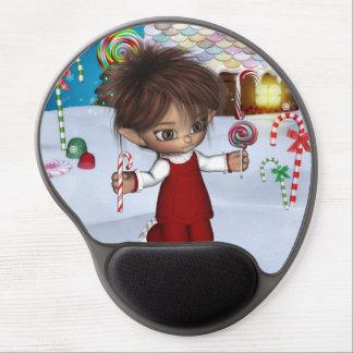 Gel mágico Mousepad del navidad del caramelo del d Alfombrillas De Raton Con Gel