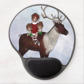 Gel mágico Mousepad del navidad del caramelo del d Alfombrillas De Ratón Con Gel