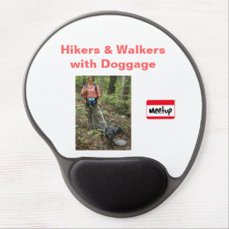 Gel Mouse Pad: Hikers & Walkers with Doggage Gel Mouse Pad