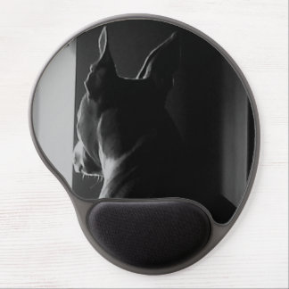Gel Mouse pad with glazing pit bull