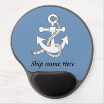 Gel Mousepad - Anchor with ship name