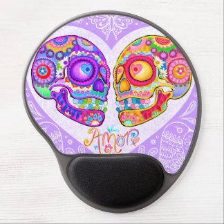 Gel Mousepad - arte de los pares de los cráneos de Alfombrilla De Raton Con Gel