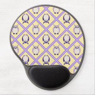 Gel Mousepad - azul de los búhos del cuarto de niñ Alfombrillas Con Gel