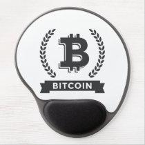 Gel mousepad bitcoin logo