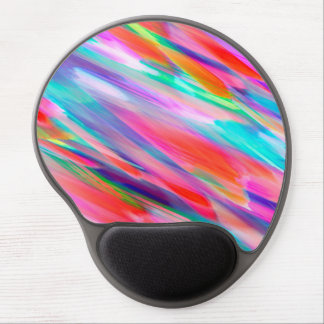 Gel Mousepad Colorful digital art splashing