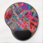 "Gel Mousepad Colorful Stained Glass<br><div class=""desc"">Colorful stained-glass,  computer generated background digital art 