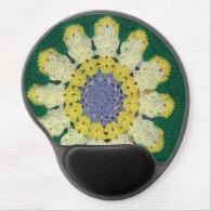 Gel Mousepad - Daisy crochet pattern