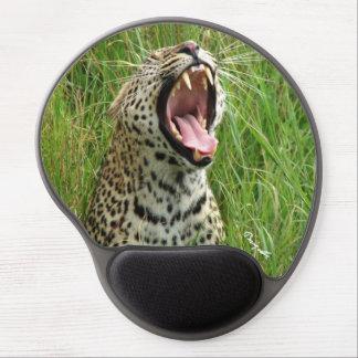 Gel-Mousepad de bostezo del leopardo Alfombrilla De Ratón Con Gel
