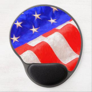 Gel Mousepad de la bandera americana Alfombrillas De Ratón Con Gel
