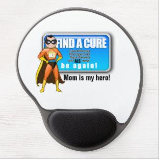 Gel Mousepad de la mamá del ALS/ Alfombrilla De Ratón Con Gel