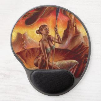 Gel Mousepad de la mujer de la lanza Alfombrillas De Ratón Con Gel