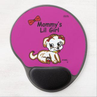 Gel Mousepad de la niña de la mamá Alfombrillas De Raton Con Gel