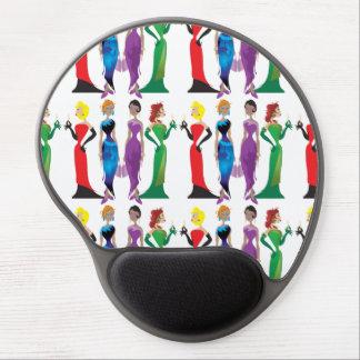 Gel Mousepad de la noche de las señoras Alfombrilla De Ratón Con Gel