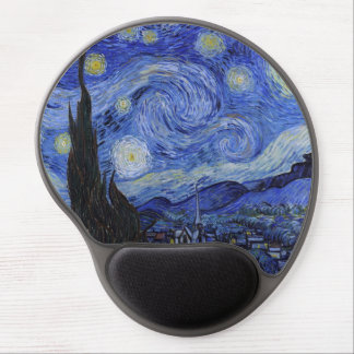 "Gel Mousepad de la ""noche estrellada"" de Vincent v Alfombrilla Para Ratón De Gel"