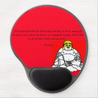 Gel Mousepad de la sabiduría de Buda Alfombrillas De Ratón Con Gel