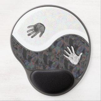 Gel Mousepad de las manos de Yin Yang+regalo Alfombrilla De Ratón Con Gel