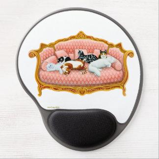 Gel Mousepad de los gatos del sofá el dormir Alfombrilla De Ratón Con Gel