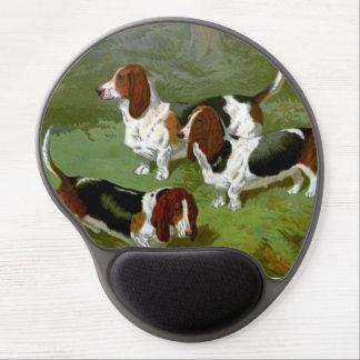 Gel Mousepad de los perros de afloramiento Alfombrilla De Ratón Con Gel