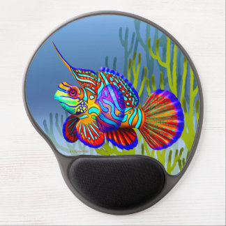 Gel Mousepad de los pescados del gobio del mandarí Alfombrillas De Raton Con Gel