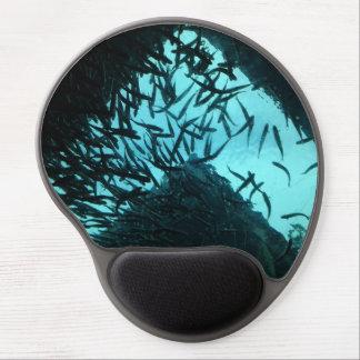 Gel Mousepad de los pescados del negro azul Alfombrillas De Ratón Con Gel
