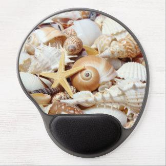 Gel Mousepad de los Seashells Alfombrilla De Raton Con Gel