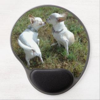 Gel Mousepad del amor de la chihuahua Alfombrilla De Raton Con Gel
