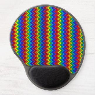 Gel Mousepad del arco iris del zigzag Alfombrillas De Raton Con Gel