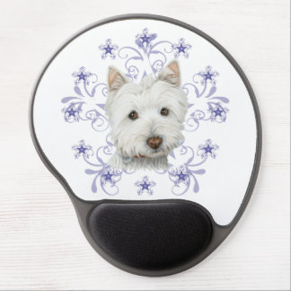Gel Mousepad del arte del perro de Westie del navi Alfombrilla De Raton Con Gel