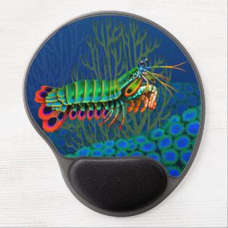 Gel Mousepad del camarón de predicador del pavo re Alfombrilla De Raton Con Gel