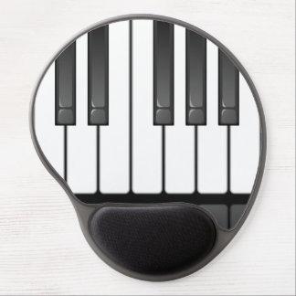 Gel Mousepad del diseño del teclado de piano Alfombrilla De Ratón Con Gel