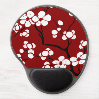 Gel Mousepad del estilo de la pagoda en rojo Alfombrillas Con Gel