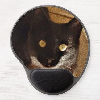 Gel Mousepad del gato negro Alfombrilla De Ratón Con Gel