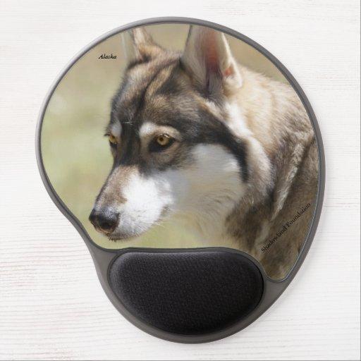 Gel Mousepad del lobo gris Alfombrilla Con Gel