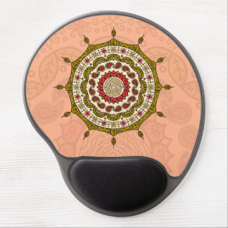 Gel Mousepad del oro de la fantasía de Mehndi Alfombrilla De Ratón Con Gel