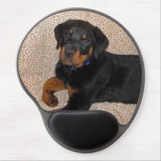 Gel Mousepad del perrito de Heidi Rottweiler Alfombrilla De Ratón Con Gel