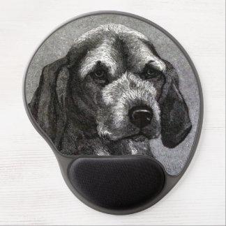 Gel Mousepad del perro beagle Alfombrilla De Ratón Con Gel