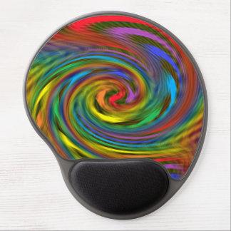 Gel Mousepad del remolino del arco iris Alfombrillas De Ratón Con Gel