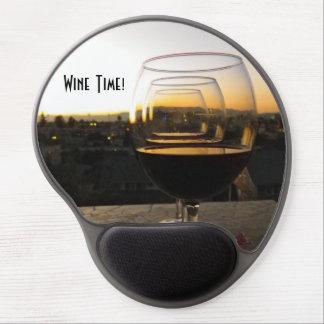 ¡Gel Mousepad del tiempo del vino! Alfombrilla Gel