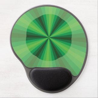 Gel Mousepad del verde de la ilusión óptica Alfombrilla De Ratón Con Gel