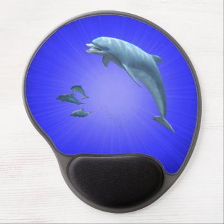 Gel Mousepad dolphin by highsaltire