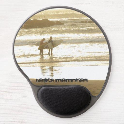 Gel Mousepad en diseño de la memoria de la playa Alfombrilla De Raton Con Gel