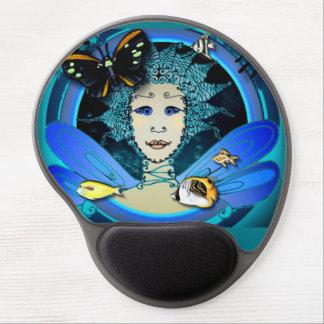 Gel Mousepad - hada con la mariposa y los pescados Alfombrillas De Ratón Con Gel