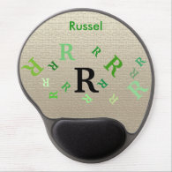 Gel Mousepad - Multiple Letters with Name
