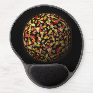 """gel Mousepad """"pelota de ornamento """"negro rojo amar Alfombrillas De Ratón Con Gel"""