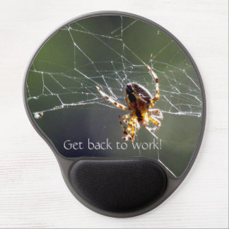Gel Mousepad - Spider on web and text